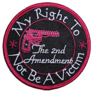 My Right To Not Be A Victim Lady Rider Embroidered Biker Patch