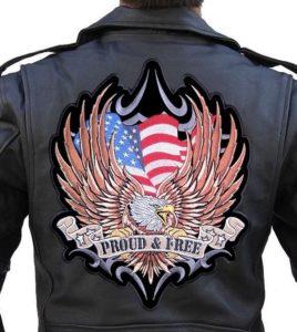 Large patriotic biker patch