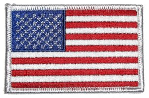 Biker patch patriotic