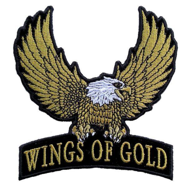 Golden eagle biker patch