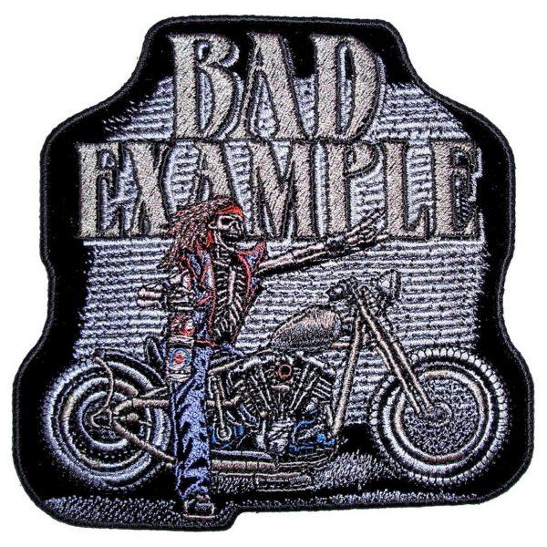 Skeleton rider biker patch