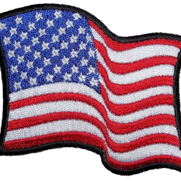 Ladies American flag biker patch