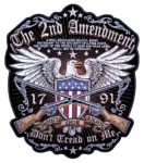 Eagle 2nd amendment rights biker patch