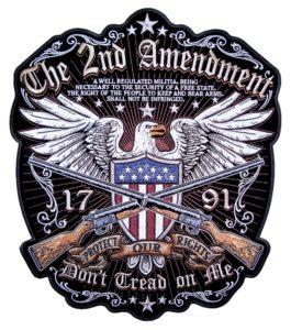 Eagle 2nd amendment rights biker patch