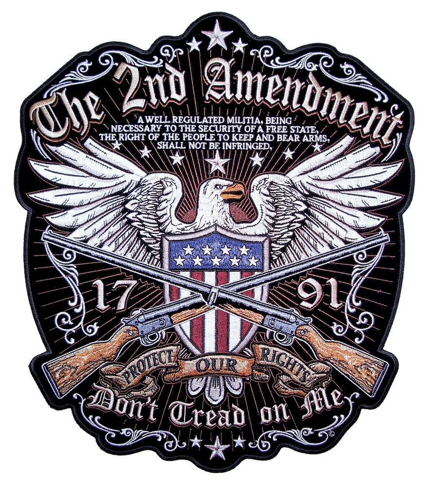 Patriotic American Eagle The 2nd Amendment Embroidered