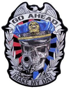 Make my day cop biker patch