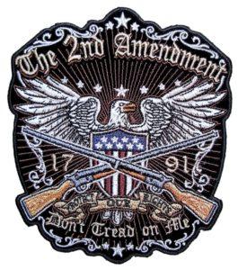 Patriotic biker patch