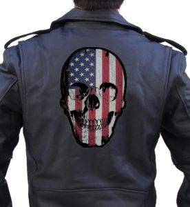 Skull flag patch