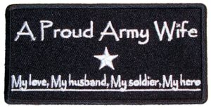 A proud Army wife patch