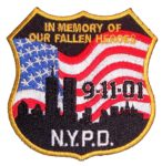 NYPD 9-11 patriotic patch
