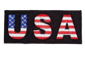 American flag USA biker patch
