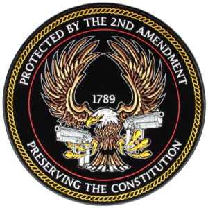 2nd amendment gun rights biker patch