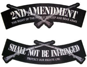 2nd amendment rocker biker patch