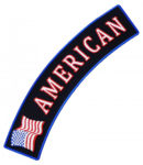 American flag rocker patch