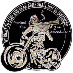 gun rights biker patch