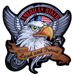 American biker eagle biker patch