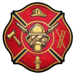 Maltese cross fire fighter patch