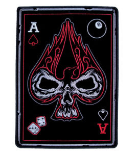 Ace of spades skull card patch