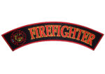 Firefighter with Maltese cross rocker patch