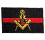 Masonic thin red line patch