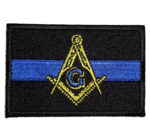 Masonic blue line patch