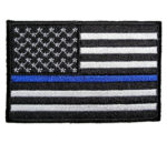 Thin blue line police patch