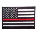 American flag thin red line firefighter patch