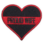 Proud wife firefighter heart patch