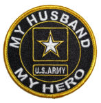 My husband my hero Army patch