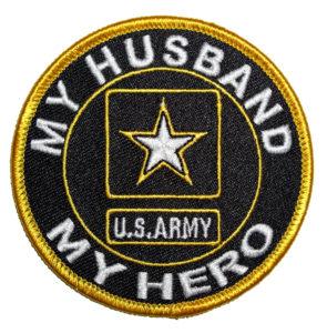 My husband my hero Army patch