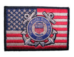 US coast guard patriotic flag patch