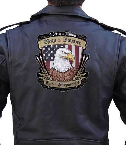 liberty and union american eagle patch