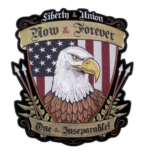 patriotic liberty and union eagle patch