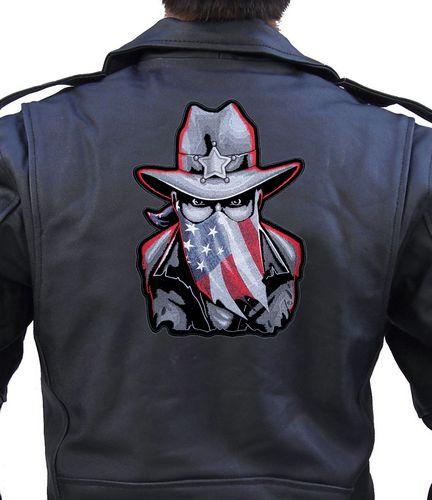 american patriotic western sheriff biker patch