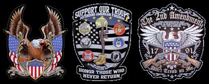 Patriotic military patches