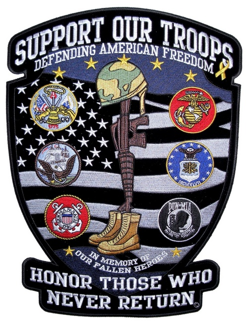 Suport our troops patch